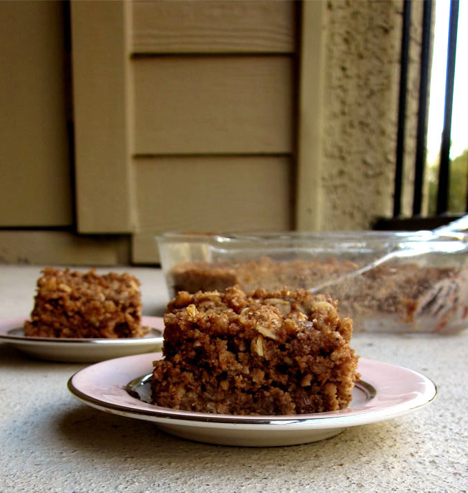 Raspberry Walnut Coffee Cake