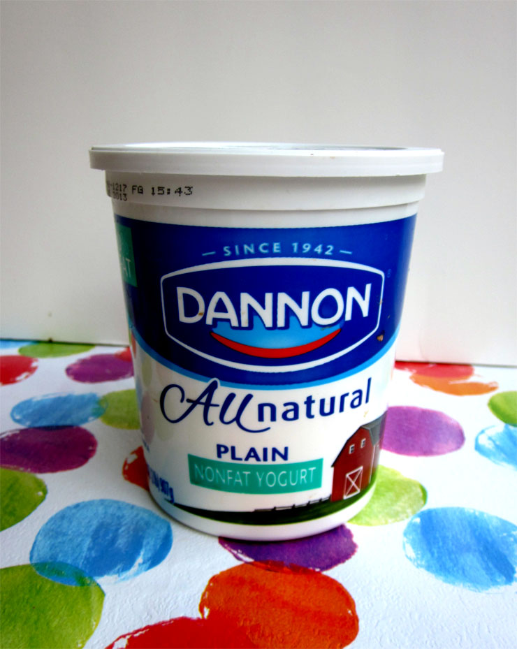 I eat trashy yogurt sometimes. This plain nonfat business has 15 grams of sugar! Eek. Does having pectin make this real yogurt? Discuss.