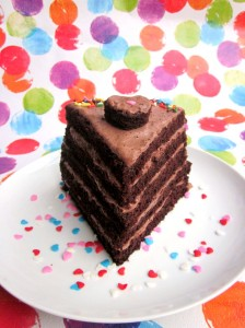 How to make a single slice of layer cake