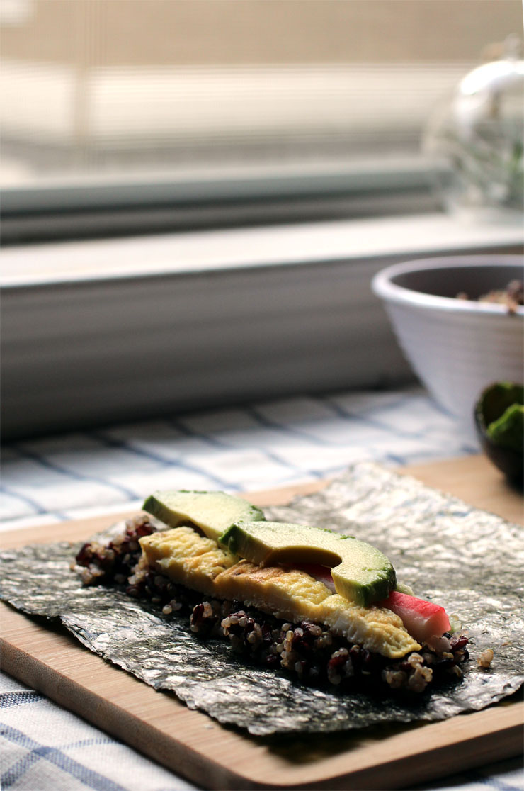 Quinoa Black Rice Sushi // The Pancake Princess