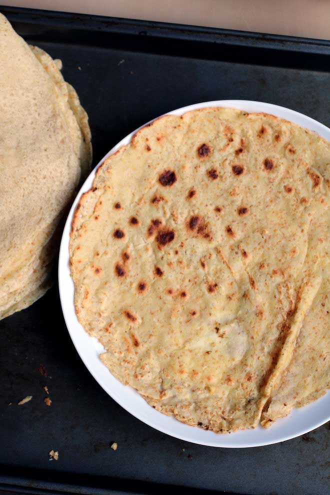 Chickpea Tortillas (vegan, gluten-free) | The Pancake Princess