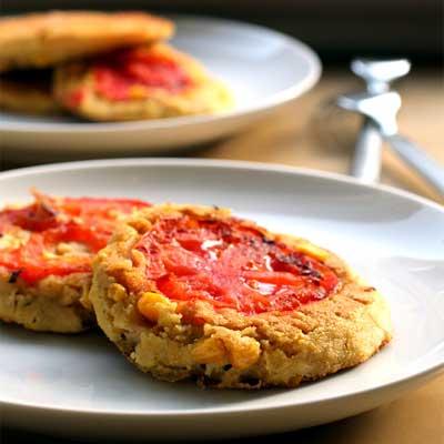 corn tomato pancakes