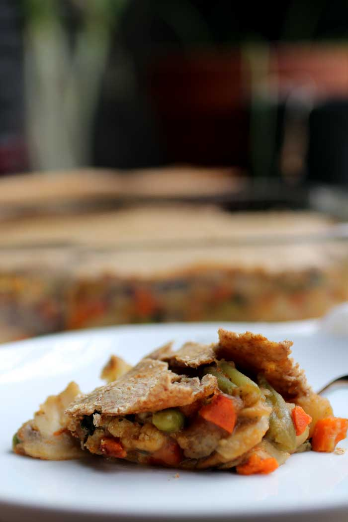 Vegetarian Pot Pie with Whole Wheat Crust // The Pancake Princess