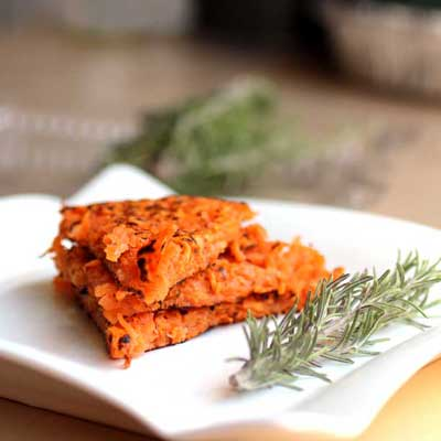 2 ingredient sweet potato fritters
