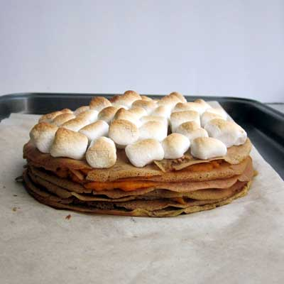 sweetpotatocasserolecrepecake
