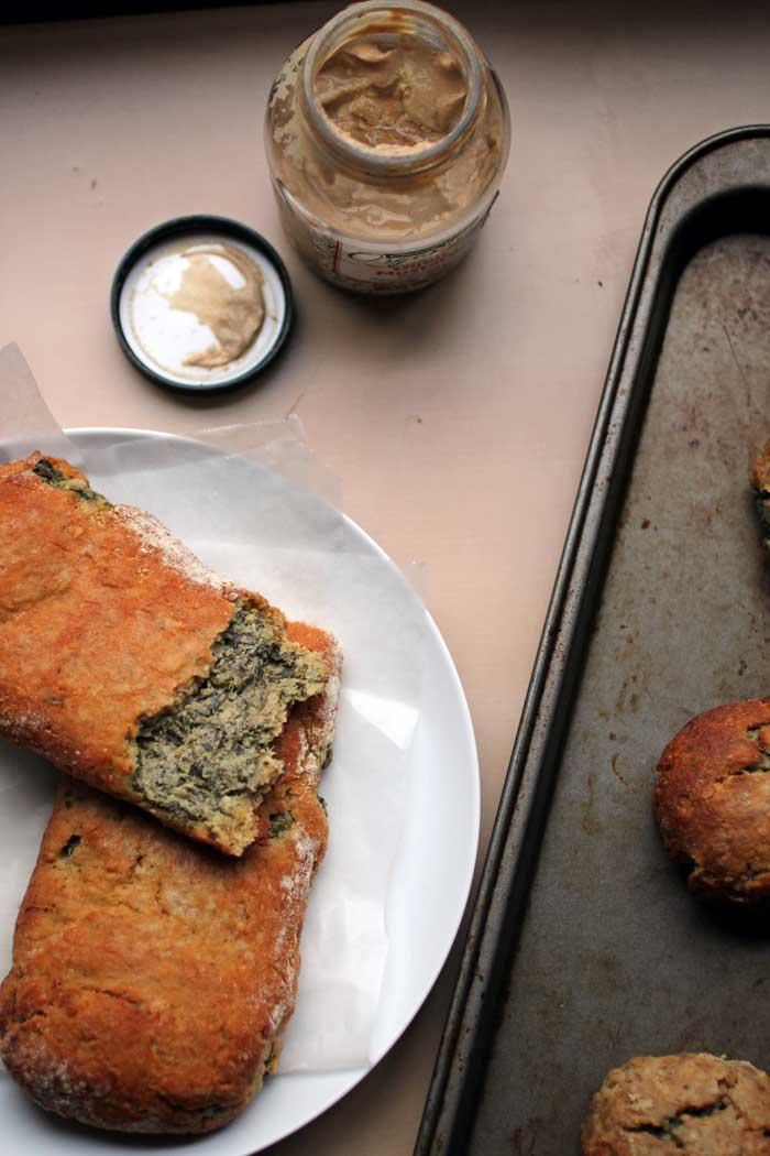 Spinach & Artichoke Stuffed Pretzels (gluten-free) // The Pancake Princess