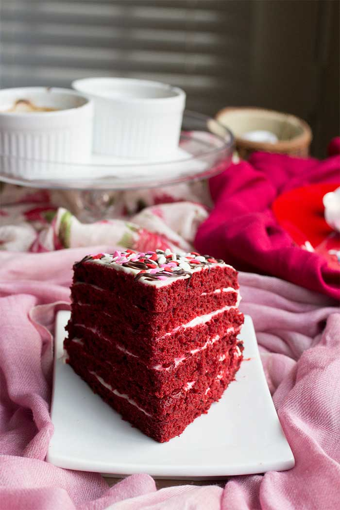 A Single Slice: Red Velvet Layer Cake // The Pancake Princess