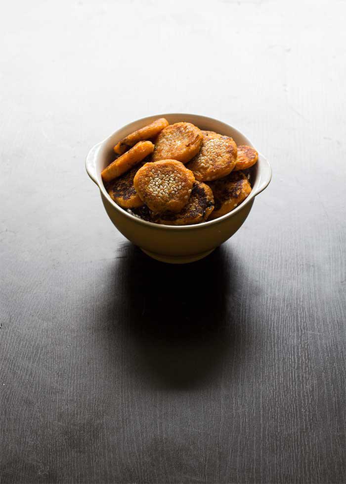 Black Sesame Sweet Potato Pancakes // The Pancake Princess