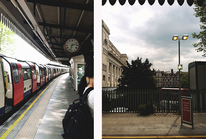 The view from the tube station..