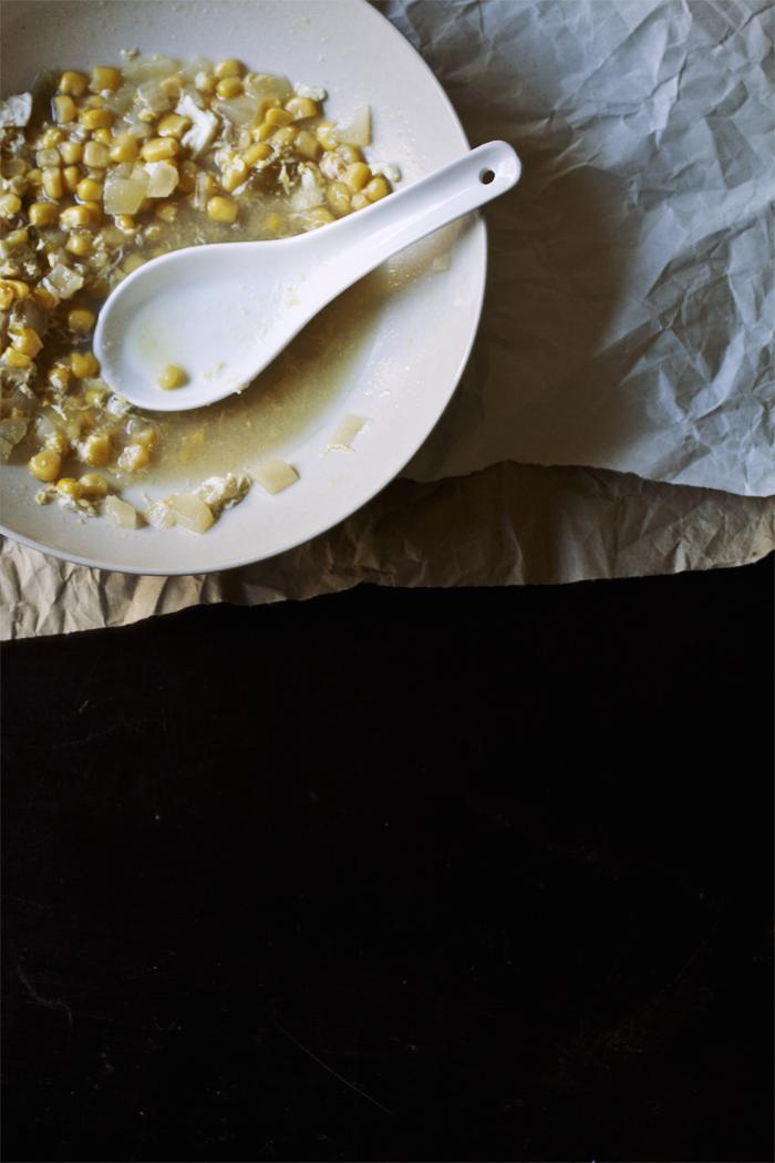 Simple Corn + Egg Drop Soup // The Pancake Princess