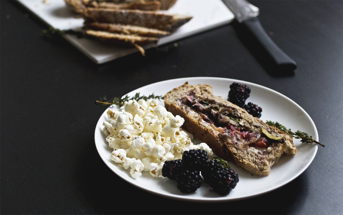 Vegetarian Pressed Picnic Sandwich // The Pancake Princess