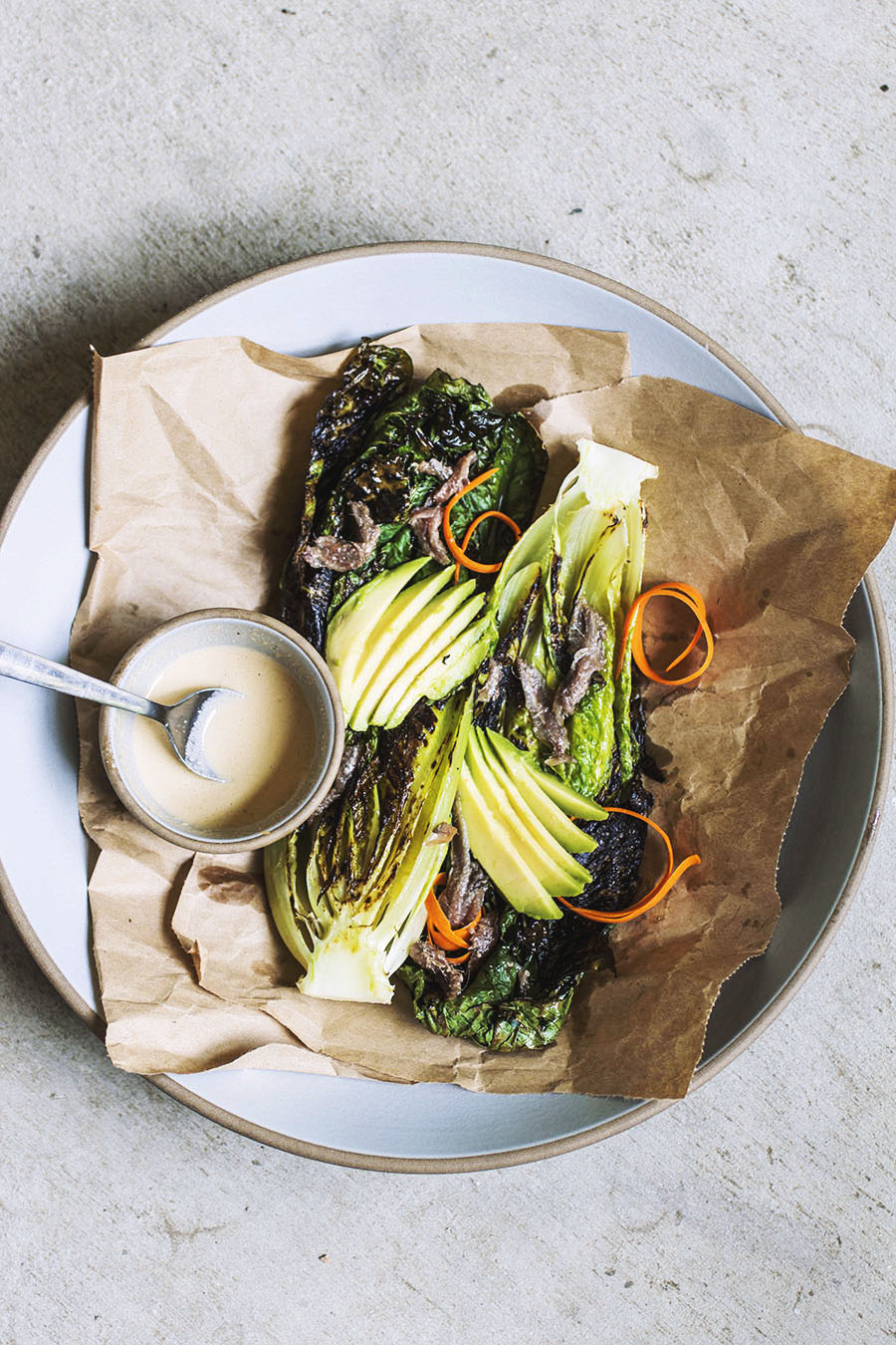 Charred Romaine Salad // The Pancake Princess