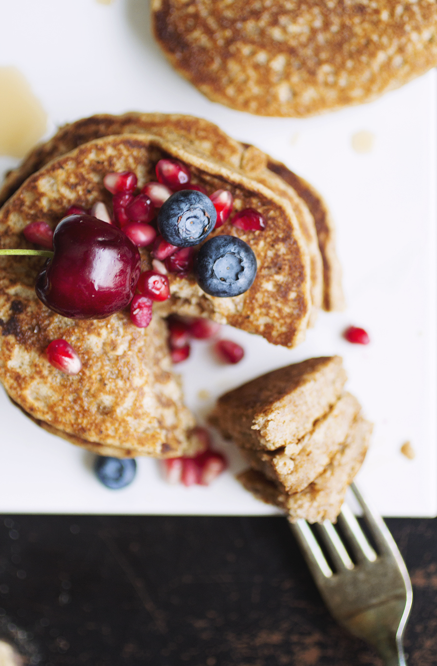 Whole Wheat Aquafaba Pancakes // The Pancake Princess
