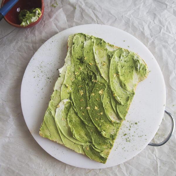 matcha avocado toast cake