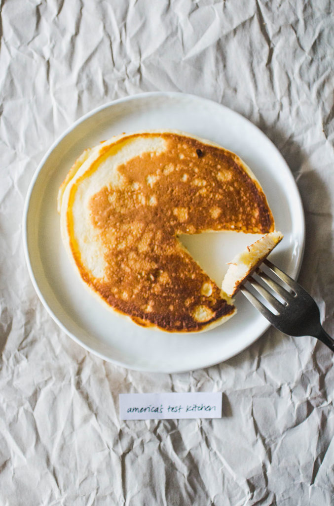 America's Test Kitchen pancakes