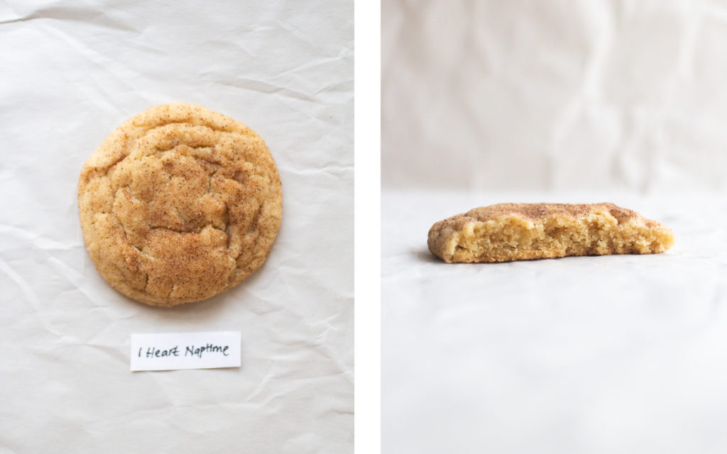 i heart naptime snickerdoodle cookie