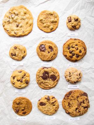 12 vegan chocolate chip cookies