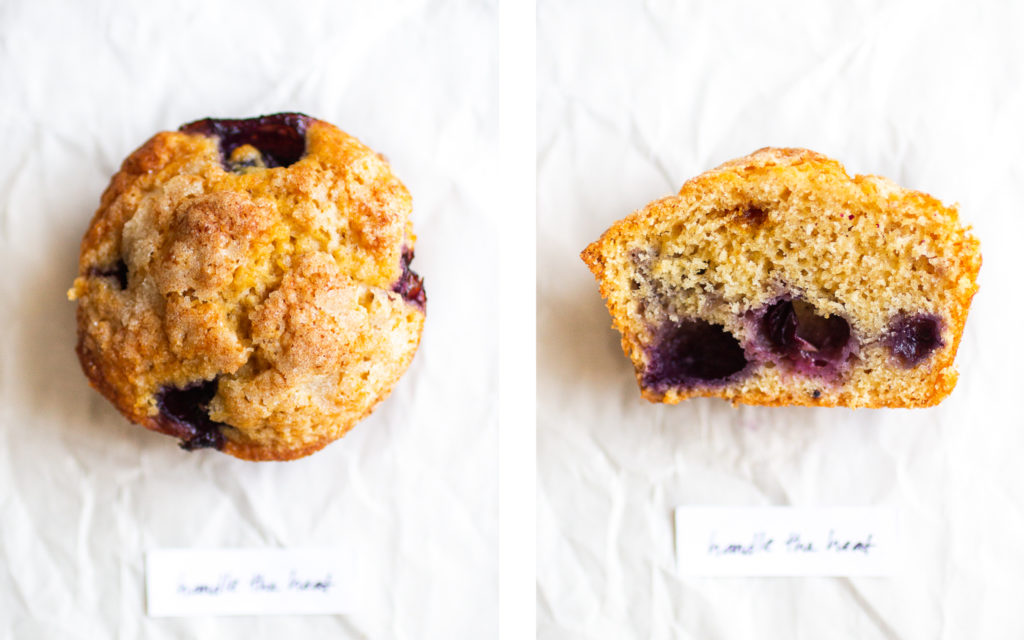 handle the heat blueberry muffin