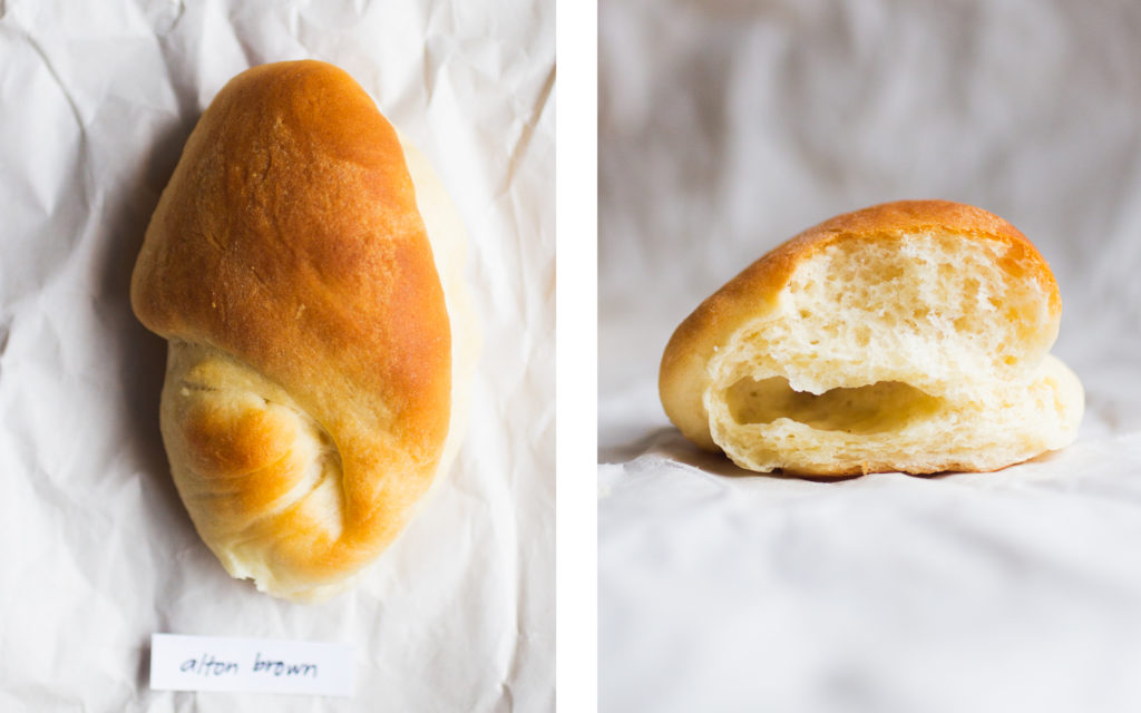 alton brown parker house roll