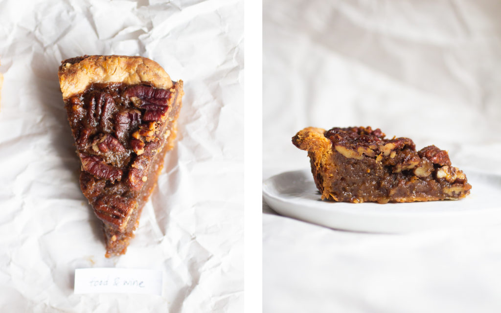 food and wine pecan pie