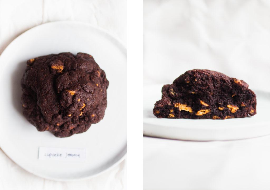 levain dark chocolate peanut butter cookie cupcake jemma