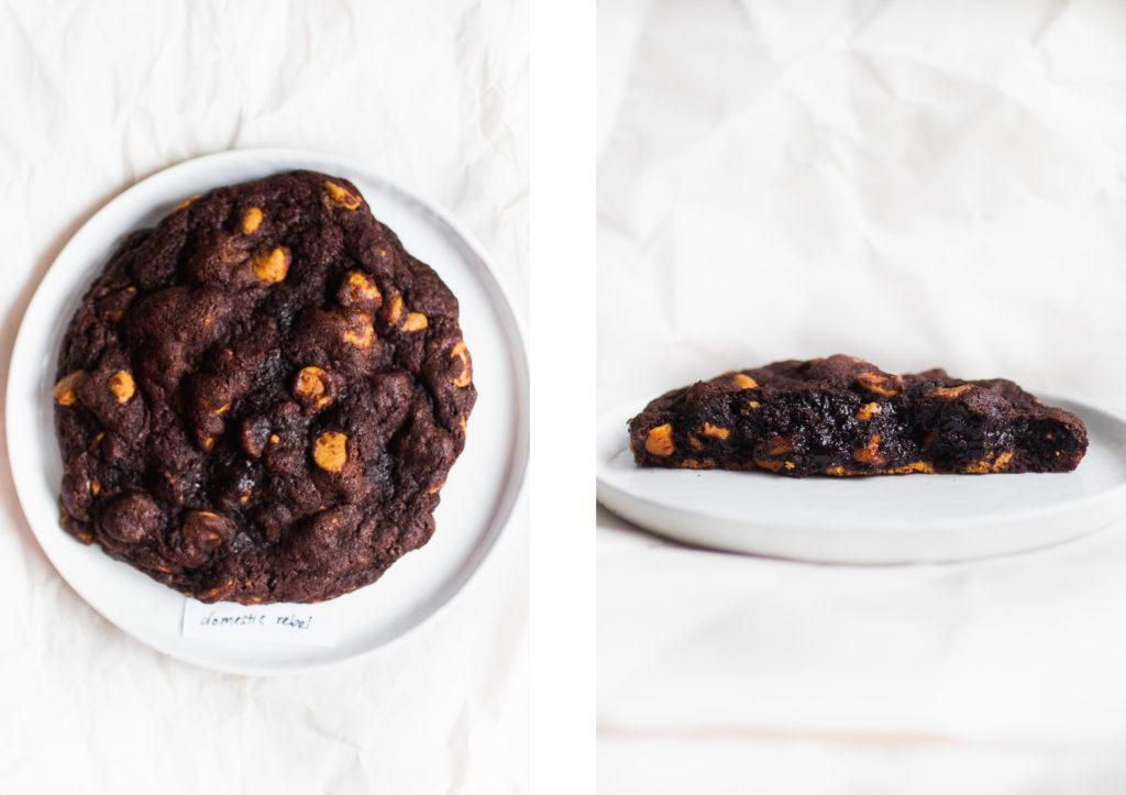 levain dark chocolate peanut butter cookie domestic rebel