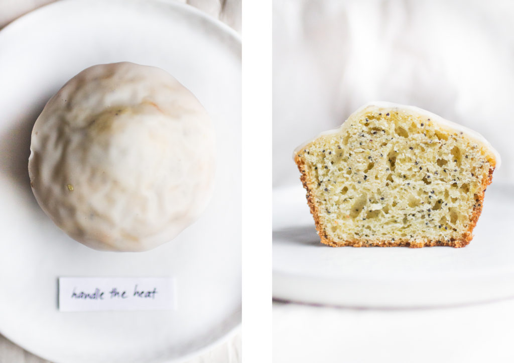 lemon poppy seed muffin handle the heat