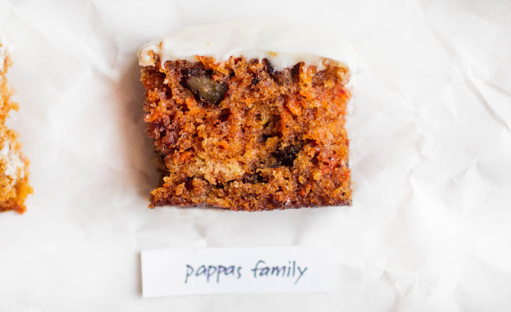 pappas family carrot cake