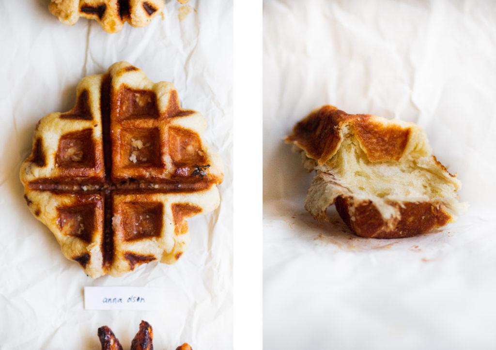 liege waffle next to a piece of liege waffle