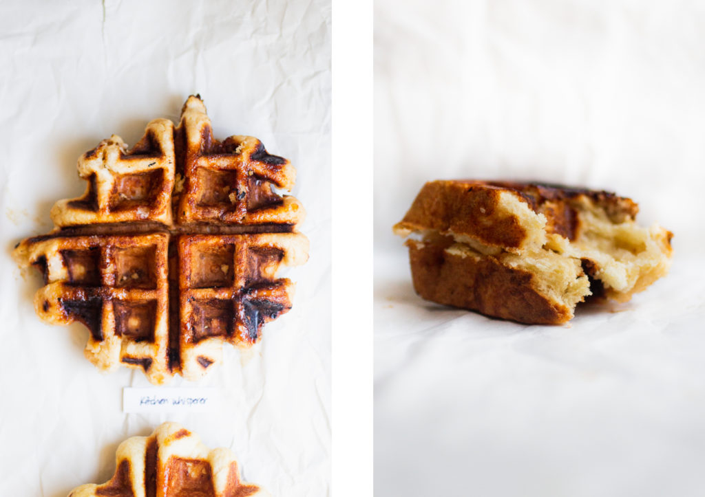 two liege waffles next to each other
